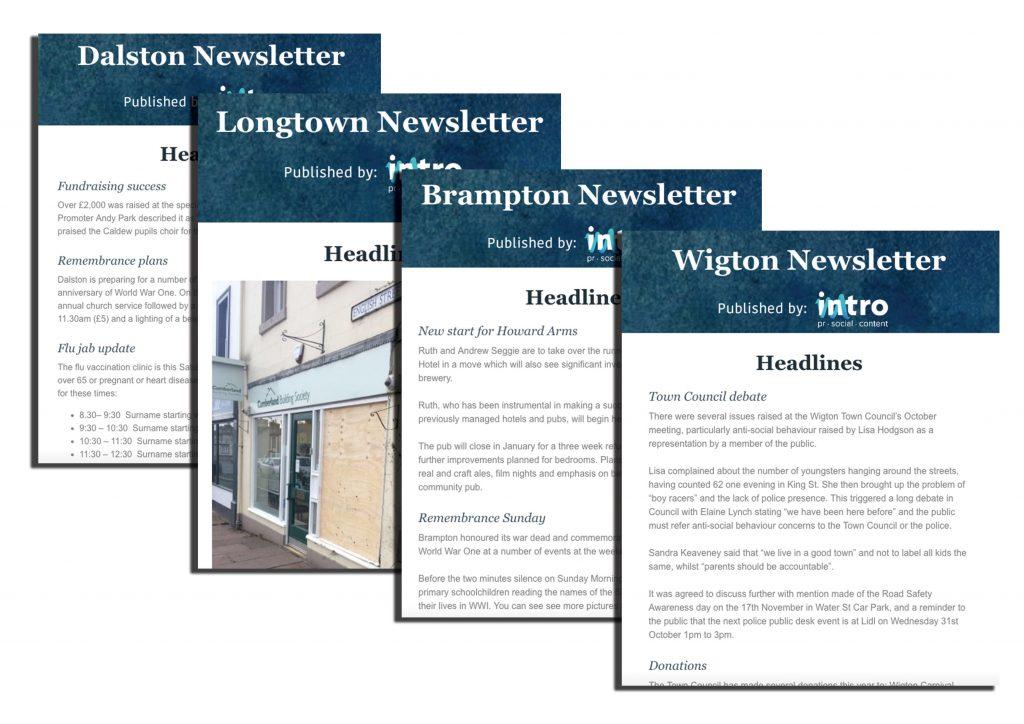 Cumbrian newsletters Dalston Longtown Brampton Wigton